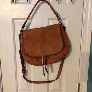 Handbags - Faux leather crossbody bag tan/camel color